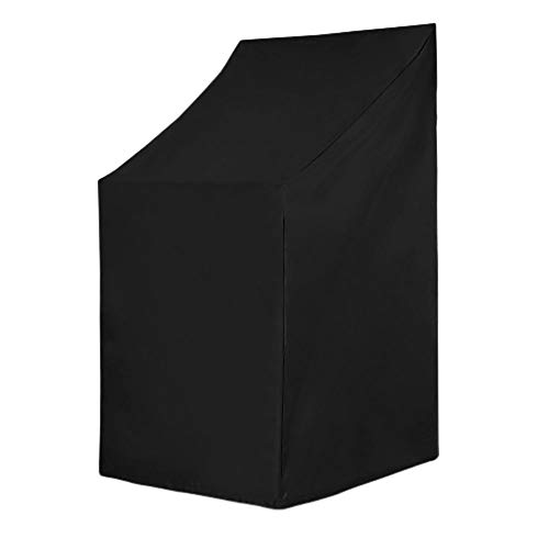 Housse de chaise de jardin empilable avec grille d'aération imperméable, coupe-vent, anti-UV, anti-déchirure