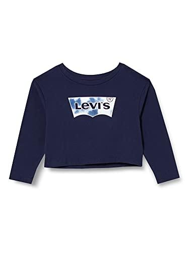 Levi's Kids Top à manches longues Fille -LvgCroppedLongSlvTeShirt Peacoat 14 ans
