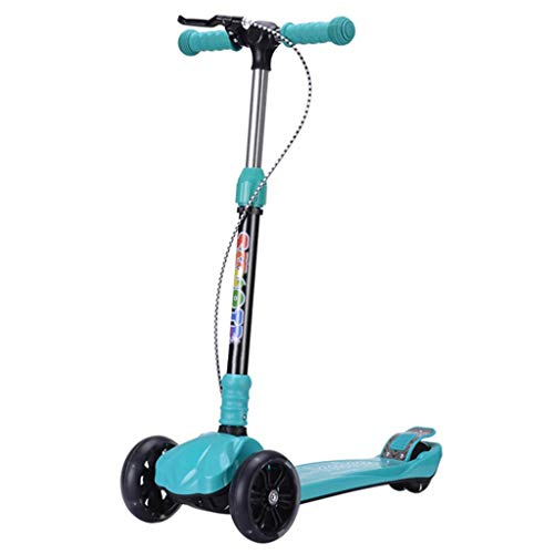 Discover Bargain Scooter NLIAN- Three Wheel Kick, Handbrake/Rear Brakes on Double Rear Wheels 3 Adju...