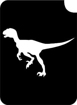 Dinosaur Body Art Glitter Makeup Tattoo Stencil- 5 Pack  Velociraptor