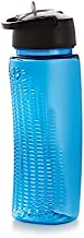 Cello BPA Free Leak Proof Plastic Sports Water Bottle Sports, Outdoor, Gym and Biking/Easy to Carry Ergonomic Reusable Drinking Container with Wide Mouth and Easy Flip Top Cap Powerade (24 Oz, Blue)