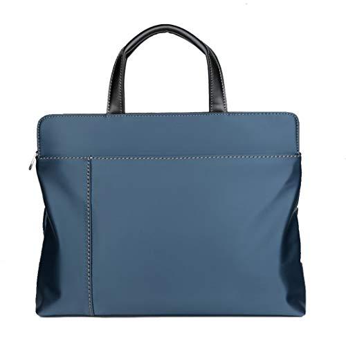 Maletín de tela Oxford, bolso de negocios de un solo hombro mensajero, hombres y mujeres blue