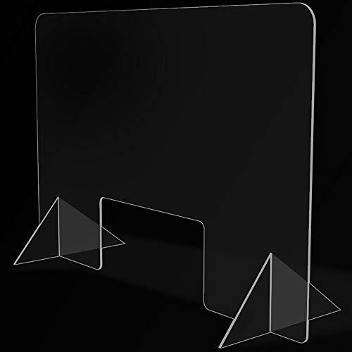 Mampara de Protección para mostradores, Policarbonato/Metacrilato Compacto 3-4 mm, Varias medidas (60cm x 40cm)