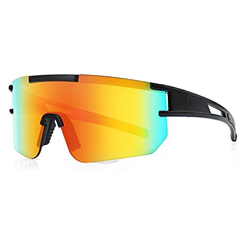 YHSW Gafas de Sol Deportivas polarizadas para Montar,protección UV400,tr90,Montura Ultraligera,Gafas Bicicleta,Hombres y Mujeres,Deportes al Aire Libre,Golf,esquí,Correr,Conducir (13 * 5 cm)