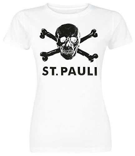 FC St. Pauli Damen T-Shirt Totenkopf Bio-Baumwolle Fairtrade (L)