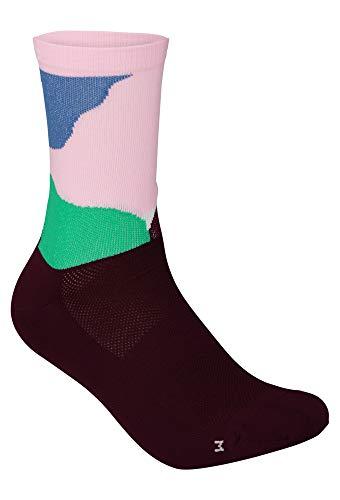 POC Essential Print Sock Calcetines, Color Splashes Multi Opal/Basalto, S Unisex Adulto