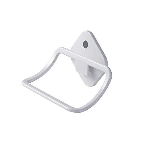 LYNNMJH Sencillo Anillo de Toalla,Baño el Plastico Toallero,Adecuado para Cocina Hotel Teniendo Fuerte/blanco / 1 PCs