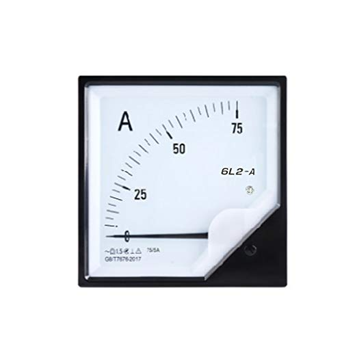 qianqian56 30/50/75A AC DC Amperemeter Analog Panel Current Meter High Precision Ampere Meter, 75, One size
