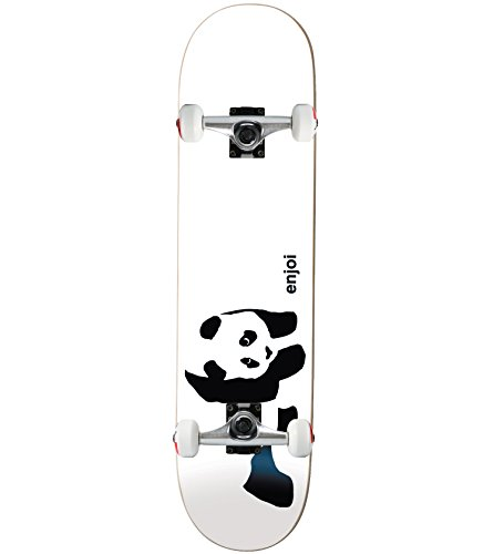 Enjoi Whitey Panda Complete Skateboard - 7.75 w/Raw Trucks & Wheels