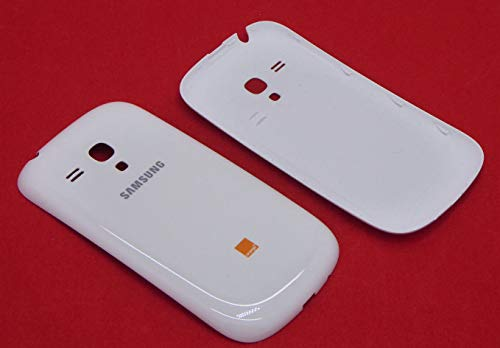 Original Samsung Akkudeckel für das Samsung i8190 Galaxy S3 mini - ceramic-white / weiß (Akkufachdeckel, Batterieabdeckung, Rückseite, Back-Cover) - GH61-01860A