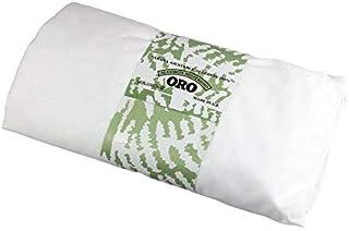 ORO Or Drap-housse élastique 100% coton Blanc 90x190/200cm
