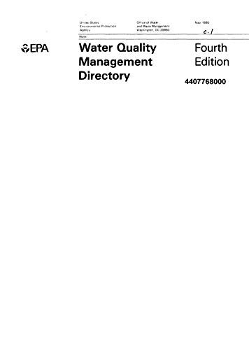 Water Quality Management Directory 4th Edition (English Edition)