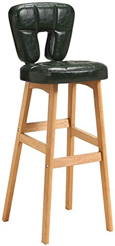 SUGEWANJBD barkruk, gevoerd, van leer, met hoge rugleuning, voor keuken, bar, balkon, restaurant, café, kantoor pub, balkon, balkon