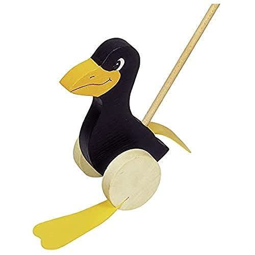 Goki - Pingüino con Ruedas con Palo de Madera
