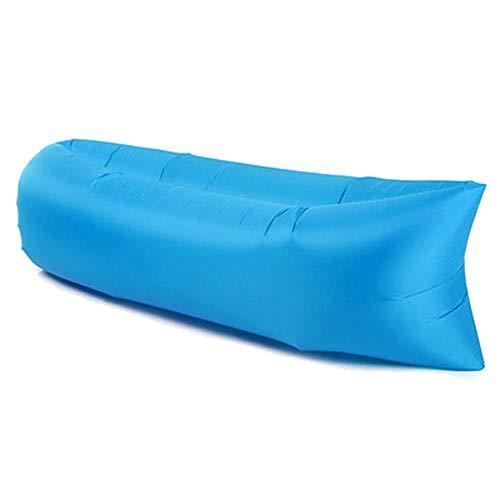 Materassi Ad Aria da Campeggio Divano Gonfiabile da Campeggio da Spiaggia Divano Letto per Dormire Lettino Pieghevole Pieghevole Leggero E Leggero per Picnic da Viaggio All'Aperto-Blu
