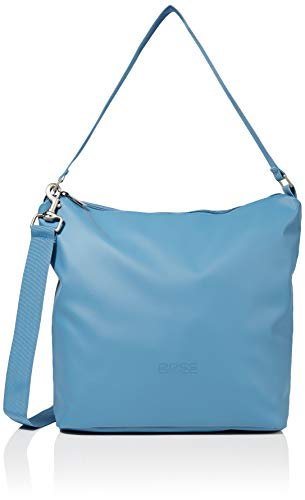 BREE Unisex-Erwachsene PNCH 701 cross shoulder bag S Umhängetasche, Blau (Provincial Blue), 12x30.5x30 cm