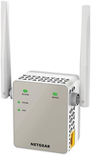 NETGEAR Wi-Fi-repeater EX6120 Wi-Fi-repeater en super boost Wi-Fi (AC1200 dual-band, dekking: 2 tot 3 kamers en 20 apparaten, snelheid tot 1200 Mbps, compact ontwerp)