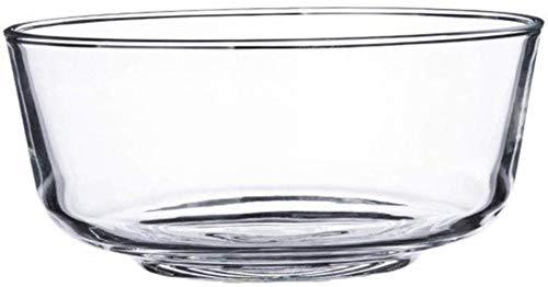 GLLP Hogar Transparente Recipiente de Vidrio Templado Sopa ensaladera Engrosada tazón de Fideos instantáneos tazón Postre Cuenco refractario Gran tazón de Sopa (Color : 1800ml)