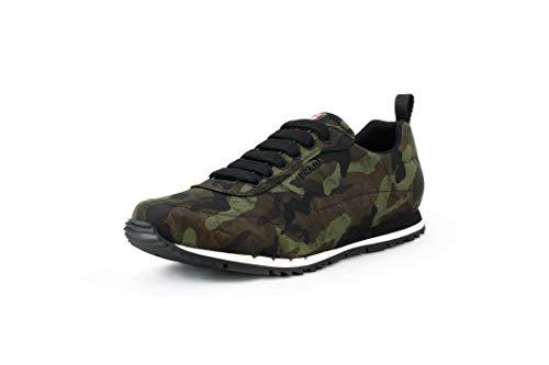 Prada Herren Nylon Camo Sneaker Militärgrün Camo 4E3220, Grn (Mimetico (Militär-Grün)), 46.5 EU