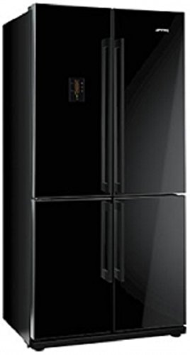 Smeg FQ60NPE Independiente 541L A+ Negro nevera puerta lado a lado - Frigorífico side-by-side (Independiente, Negro, Puerta francesa, LED, Tocar, LCD)