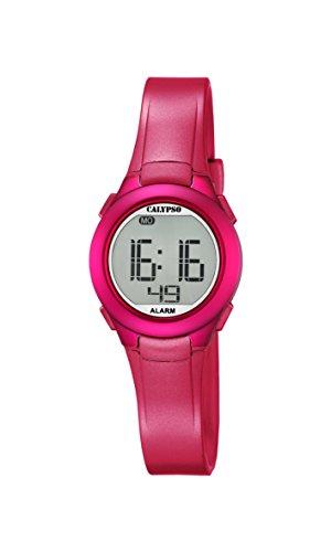 Calypso Reloj Digital Unisex con Pantalla Digital LCD y Correa de plástico Rosa K5677/4