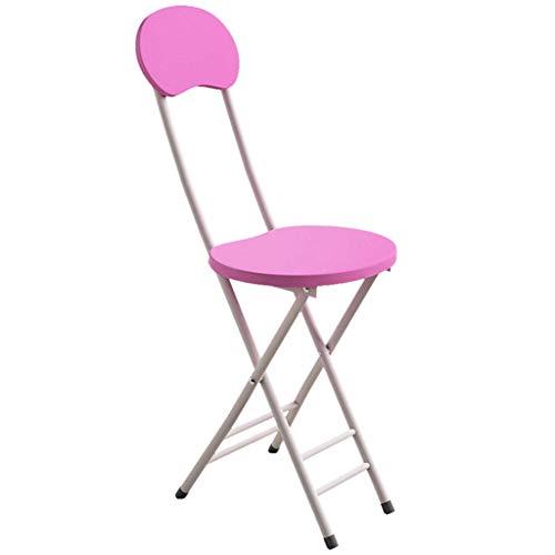 NMDD Diseño Simple de sillas Plegables con Marco de Metal, Silla de Asiento de Oficina de Ocio Moderno, para cafetería, tocador, Cocina, Oficina, balcón