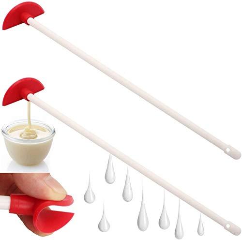 Raspador de botellas de silicona - Ayudante de última gota reutilizable, Espátula de última gota de silicona, Ayudante de cocina flexible, Herramientas de limpieza de mango largo de 14 '(2 piezas)