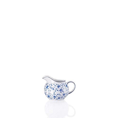 Arzberg Form 1382 Blaublüten Milchkännchen 6 P, Porzellan, White/Blue, 10.2 x 10.2 x 9.8 cm
