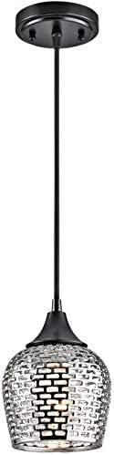 discount Kichler wholesale 43489BKSLV Annata Mini lowest Pendant 1-Light, Black Material (Not Painted) online sale