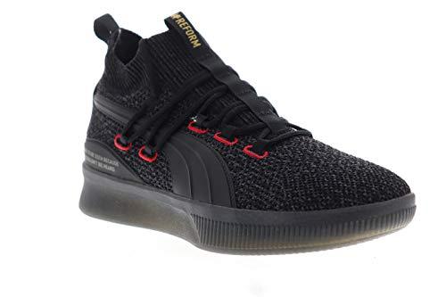 Puma Mens Clyde Court Reform Black Athletic Basketball Shoes 11