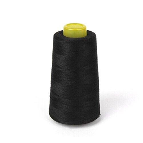 Rosenice - Bobina di filo, filo da cucito in poliestere, per macchina da cucire 40S/2, colore: Nero