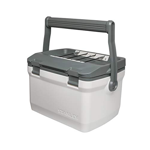 Stanley Adventure Outdoor Cooler 6.6L / 7QT Polar White – Double Wall Foam Insulated | BPA Free | Chest Cooler | Heavy Duty Camping Cooler Doubles as Seat | Rugged Travel Cooler | Leakproof