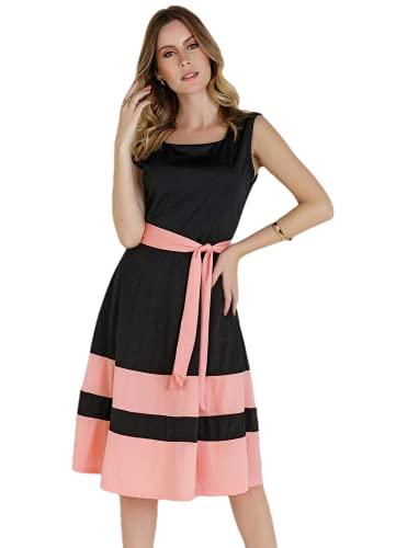 Vestido Feminino Alta Qualidade Com Faixa Moda Evangélica