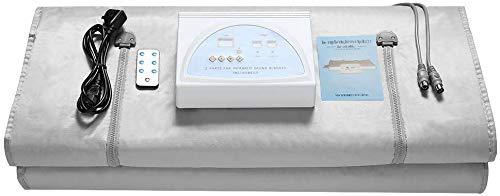 ETE ETMATE Sauna Blanket, 2 Zone Digital Far-Infrared Oxford Sauna Blanket, Upgraded Version Zipper Type Weight Loss Body Shaper Detox Therapy Anti Ageing Beauty Machine