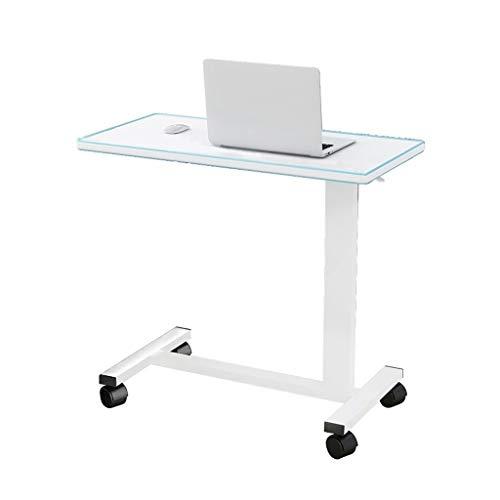 Mesa auxiliar portátil Overbed para ordenador portátil, mesa de ordenador portátil, para interior y exterior, multifuncional y práctica (color azul).