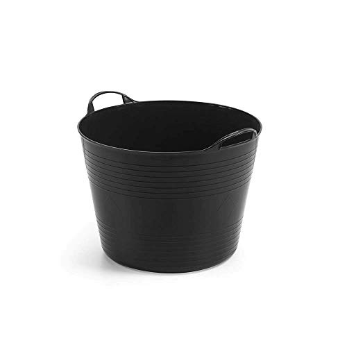 Kreher Mehrzweckkorb für 42 Liter mit Füllstandsanzeige, flexibel und strapazierfähig - Farbe: Schwarz
