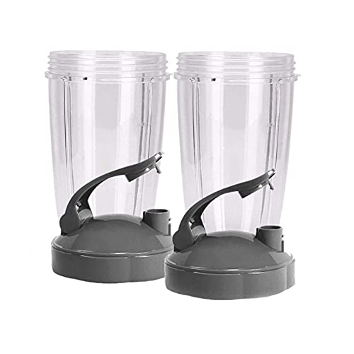 ZXC 24-Ounce Cups With Flip Top To-Go Lid (Pack Of 2) Nutri Replacement Parts & Accessories Fits Nutri 600w And Pro 900w Blender