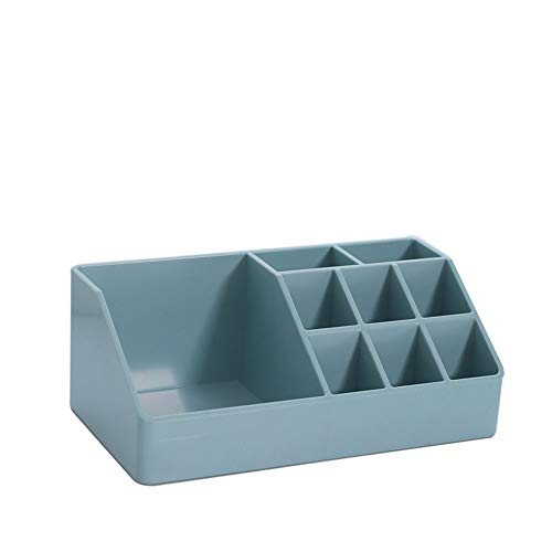 Multi Function Bureau cosmétiques Boîte de rangement Organisateur Vanity Porte-tiroir de rangement Boîte d'affichage pour salle de bains Bleu Countertop