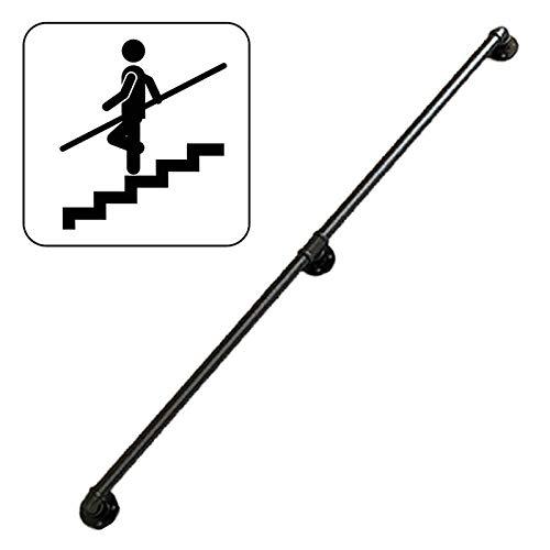 GYX-Décoration Barandilla De Escalera De Tubería De Agua, Pasamanos De Hierro Galvanizado para Barandilla De Restaurante Tipo Loft, Barandilla De Escalera Interior Y Exterior