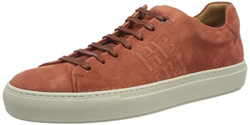 BOSS Herren Mirage Tenn Sneakers aus italienischem Veloursleder mit Monogramm Größe 45