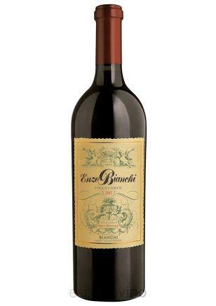 Enzo Bianchi- Vino Tinto Blend (Cabernet - Malbec - Merlot) - Envejecido en Roble por 14 Meses- Originaria de Mendoza la Tierra del Vino - Argentina- Un Vino con Historia- 75 CL