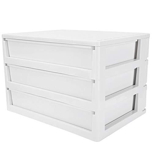 YCSD Geschichtete Multifunktionale Stapelbare Desktop-Aufbewahrungsbox Aus Kunststoff Simple Notebook Organizer White