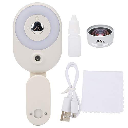 FOLOSAFENAR un Espejo para Selfies Lámpara de Relleno para(Fill Light White + Wide-Angle Lens (2 Piece Set))