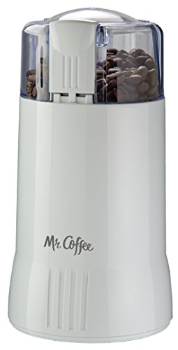 Mr. Coffee Electric Blade Coffee Bean Grinder, White, 1 Speed - IDS55-RB