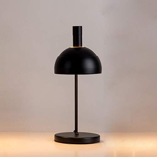 MOZUSA Lámparas de Mesa, escandinava Moderna Simple lámpara de Hierro, la Sala Den Dormitorio lámpara de cabecera, Negro luz de la Noche de Lectura (Color : Black)