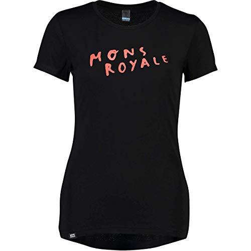 Mons Royale Damen Viva La Tee Base Layer, Black, XS