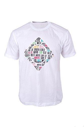 IZAS GILBO T-Shirt à Manches Courtes Homme, Blanc, FR : 2XL (Taille Fabricant : XXL)