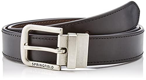 Springfield Cinturón básico Piel Reversible, Negro, 85 para Hombre