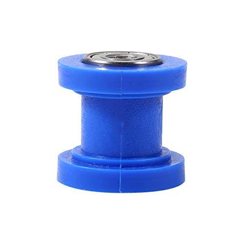 KIMISS Tensor deslizante de rodillo de cadena, 10 mm Tensor de rodillo de cadena Guía Guía de rueda Pit Dirt Mini Bike Moto Atv(Azul)