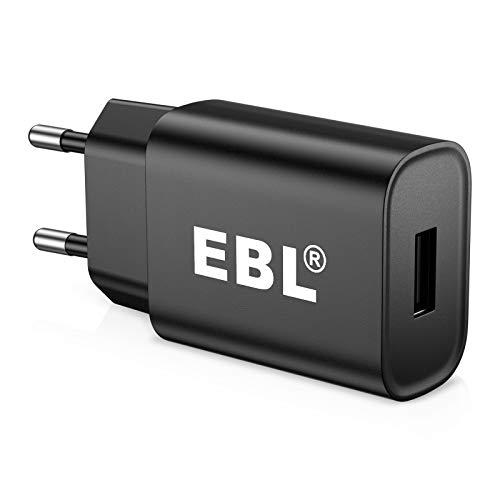EBL USB Ladegerät 2.1A/5V Ladeadapter Stecker Adapter Steckdose Stromadapter Netzstecker Ladestecker Netzteil für u.a. EBL Akku Ladegerät, Handy,Tablets, eBook Reader, Powerbank,- Schwarz